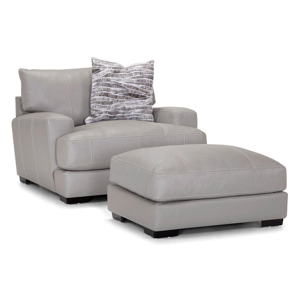 Moore Furniture Antonia Ottoman in Light Gray, , large