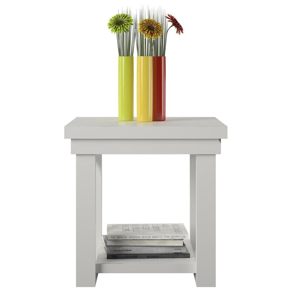 DHP Huntsville End Table in White, , large