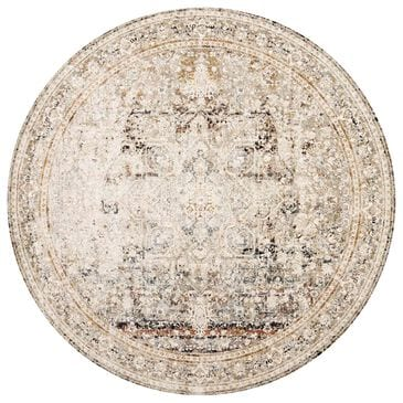 "Loloi Theia THE-05 7'10"" Round Taupe and Brick Area Rug, , large"