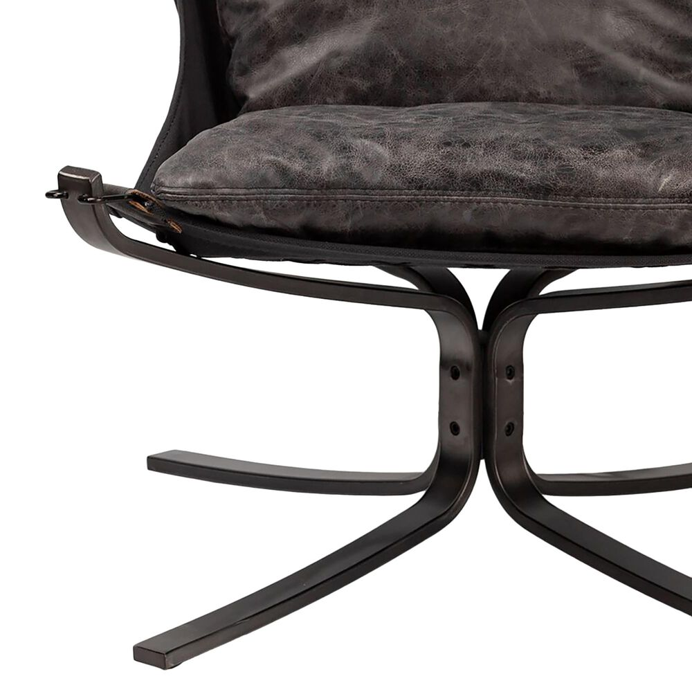 Mercana Colarado Lounge Chair in Black Leather, , large