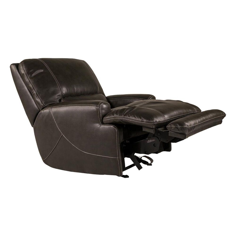 Sienna Designs Leather Power Glider Recliner in Stampede Charcoal, , large