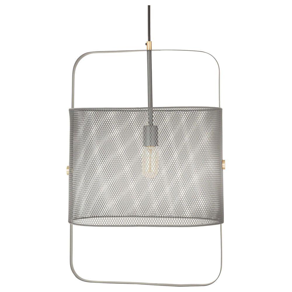 Tov Furniture Klaus Large Pendant in Grey, , large