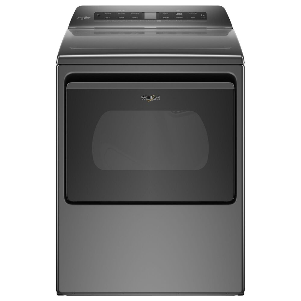 Whirlpool 4.8 Cu. Ft. Top Load Washer + 7.4 Cu. Ft. Front Load Electric Dryer in Chrome Shadow, , large