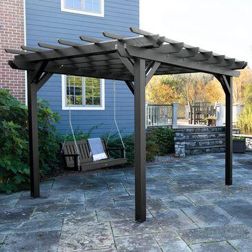 Highwood USA Bodhi 10' x 10' DIY Pergola with 5' Lehigh Porch Swing in Black, , large