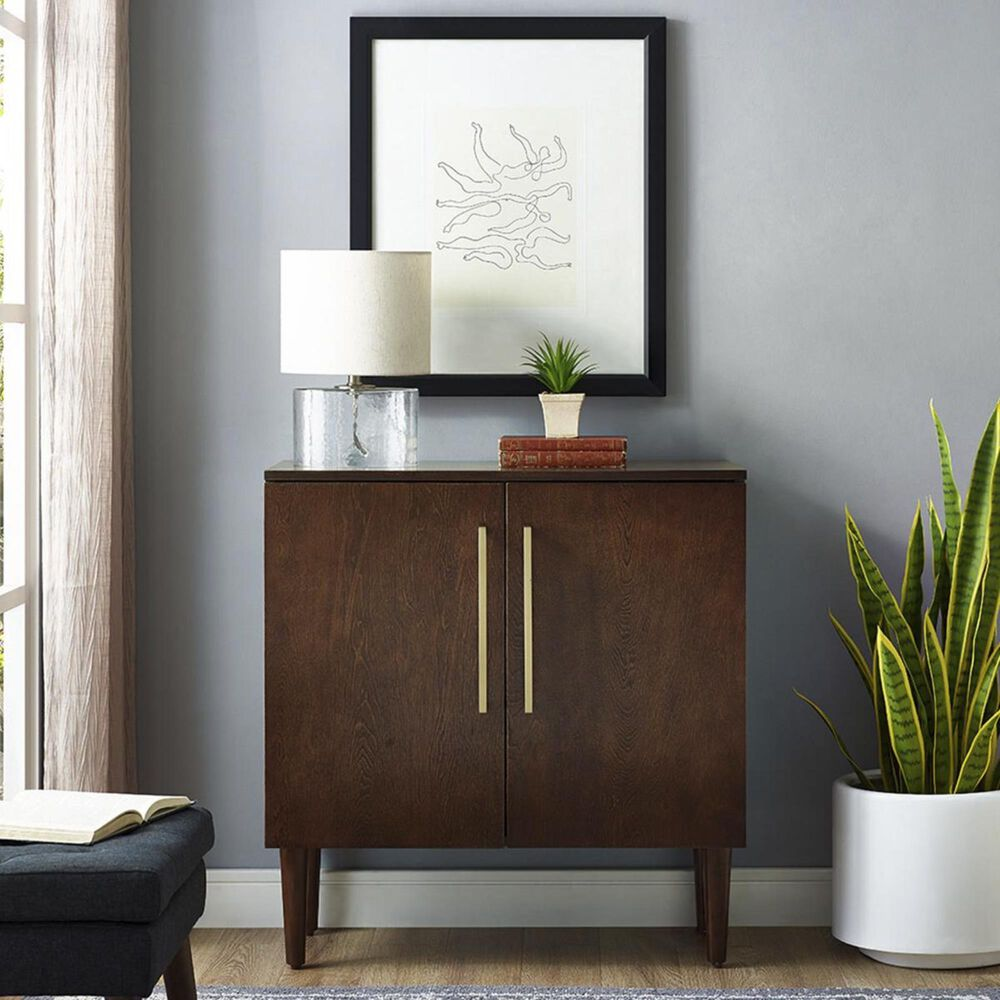 Crosley Furniture Everett Console Cabinet in Mahogany, , large