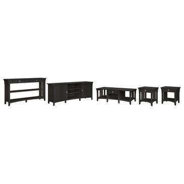 Bush Salinas 4-Piece Living Room Table Set in Vintage Black, , large