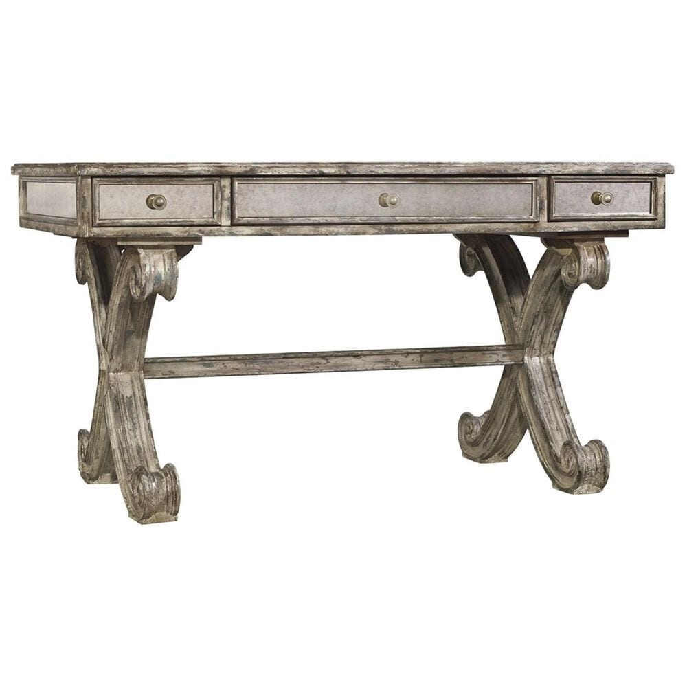 Hooker Furniture Corsica Mirrored Writing Desk in Gray, , large