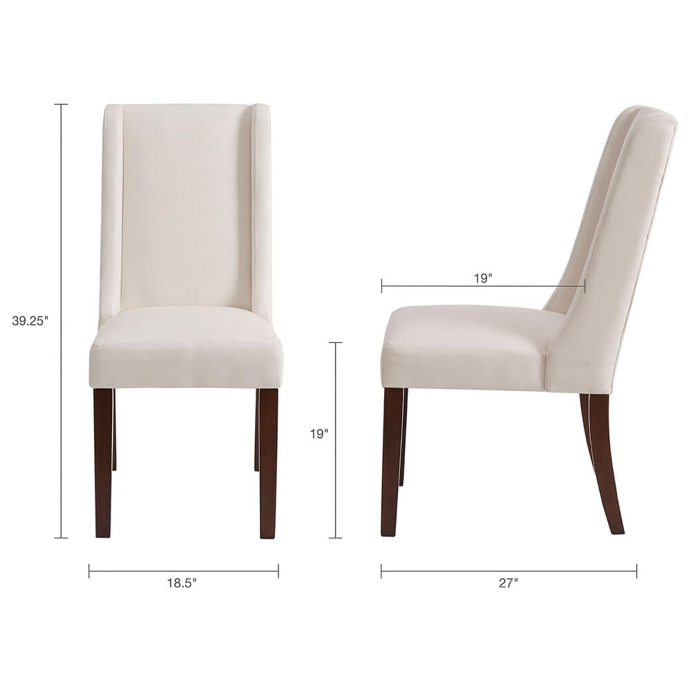Hampton Park Brody Dining Chair in Cream (Set of 2), , large