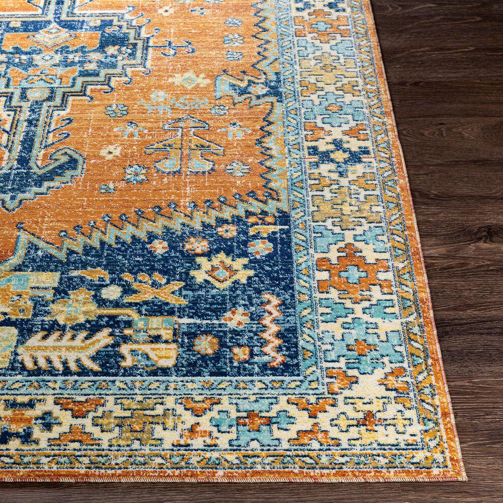 "Surya Bodrum 5'3"" x 7'3"" Ivory, Orange, Saffron, Gray, Camel and Blue Area Rug, , large"