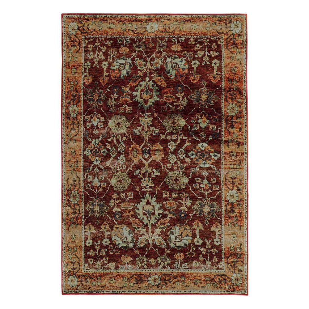 """Oriental Weavers Andorra 7154A 3'3"""" x 5'2"""" Red Area Rug, , large"""