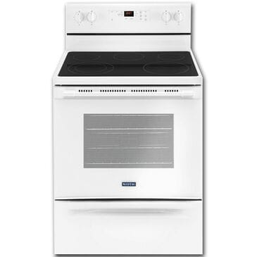 """Maytag 30"""" Electric Range in White, , large"""