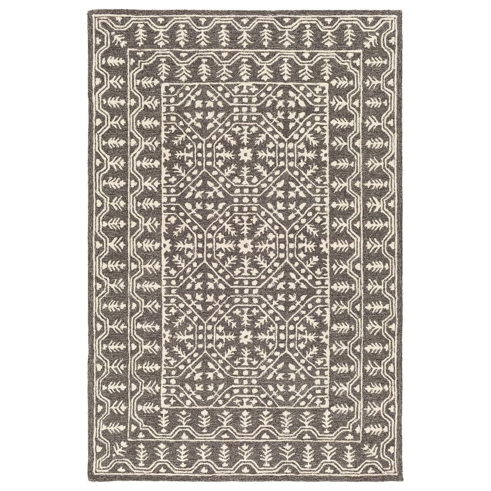 """Surya Granada GND-2315 5' x 7'6"""" Black, Gray and Beige Area Rug, , large"""