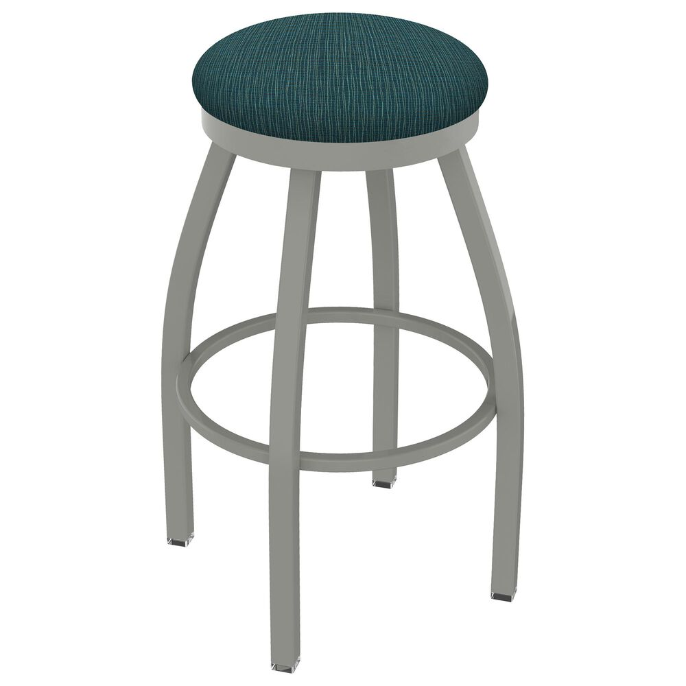"""Holland Bar Stool 802 Misha 25"""" Swivel Counter Stool with Anodized Nickel and Graph Tidal Seat, , large"""