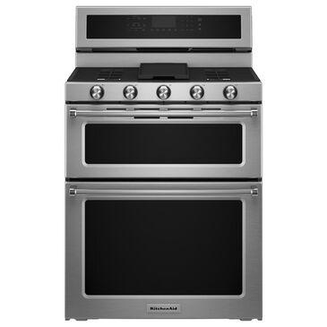 KitchenAid 6.0 Cu. Ft. Freestanding Gas Double Oven Range, , large