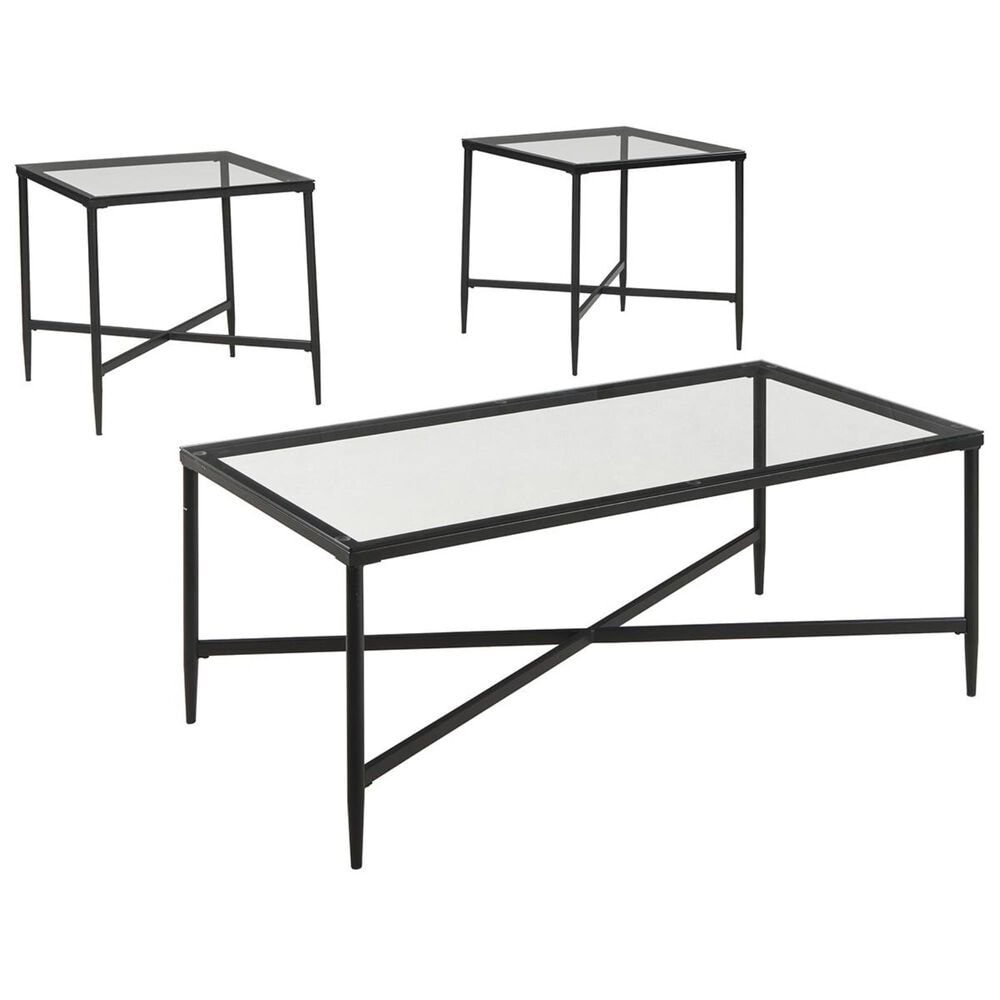 Signature Design by Ashley Augeron 3-Piece Occasional Table Set in Black, , large