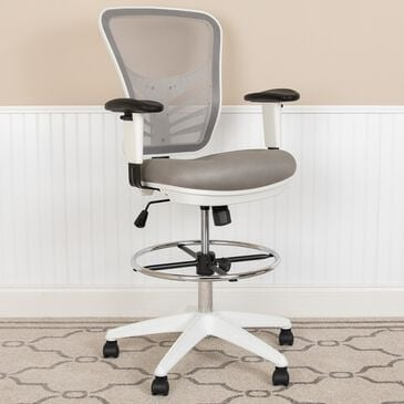 Flash Furniture Drafting Chair in Gray, , large