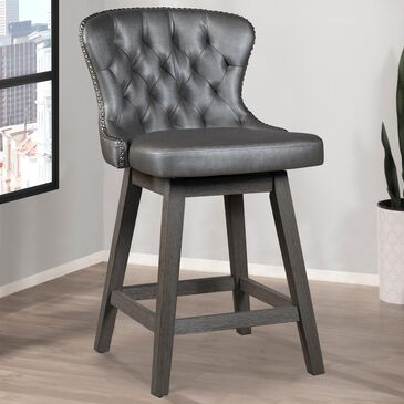 """Richlands Furniture  30"""" Rosabella Swivel Counter Stool with Steel Gray Cushion in Charcoal Gray, , large"""