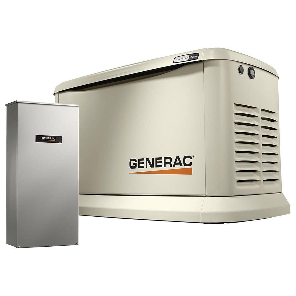 Generac Guardian 22000-Watt Home Backup Generator with 200 Amp Transfer Switch, , large