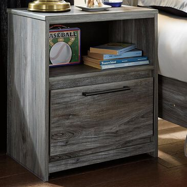 Signature Design by Ashley Baystorm Nightstand in Smokey Gray with USB Ports, , large