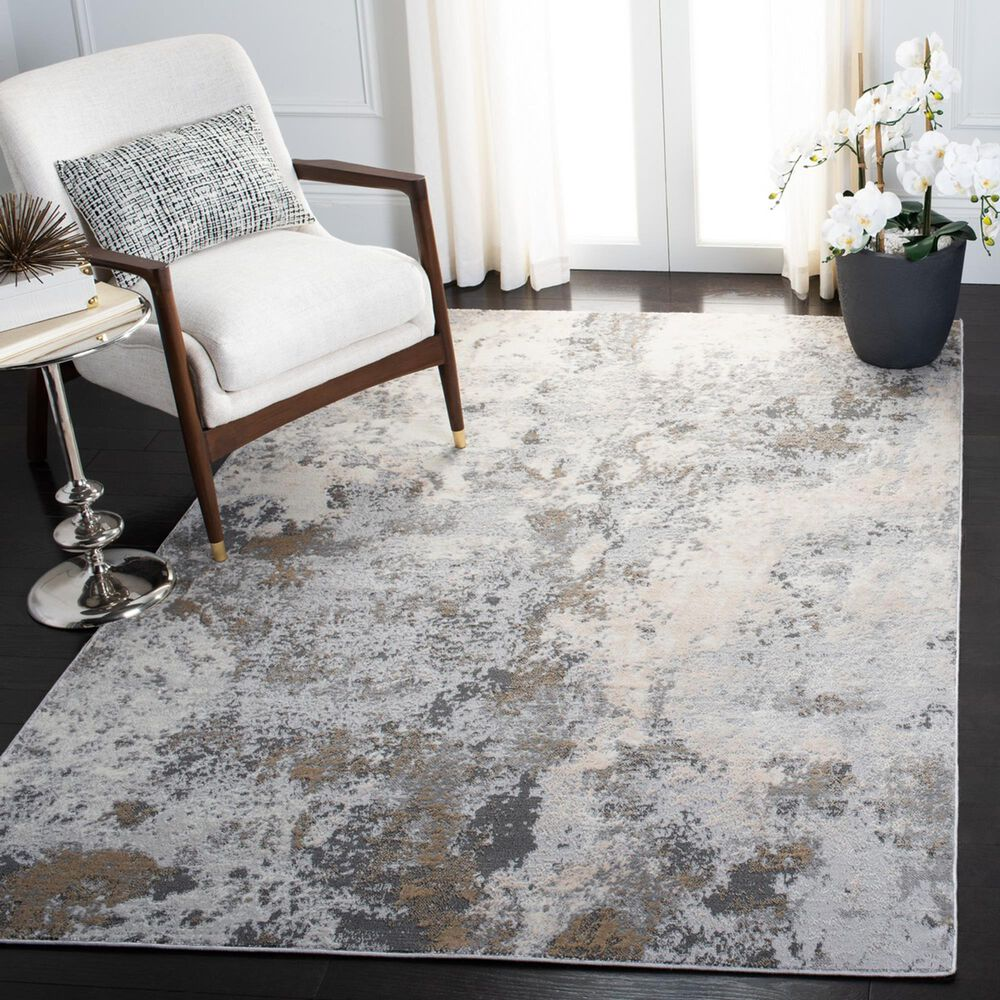 Safavieh Lagoon LGN522A 4' x 6' Ivory and Grey Area Rug, , large