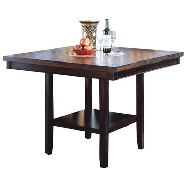 Claremont Fulton Counter Height Table with Lazy Susan - Table Only, , large