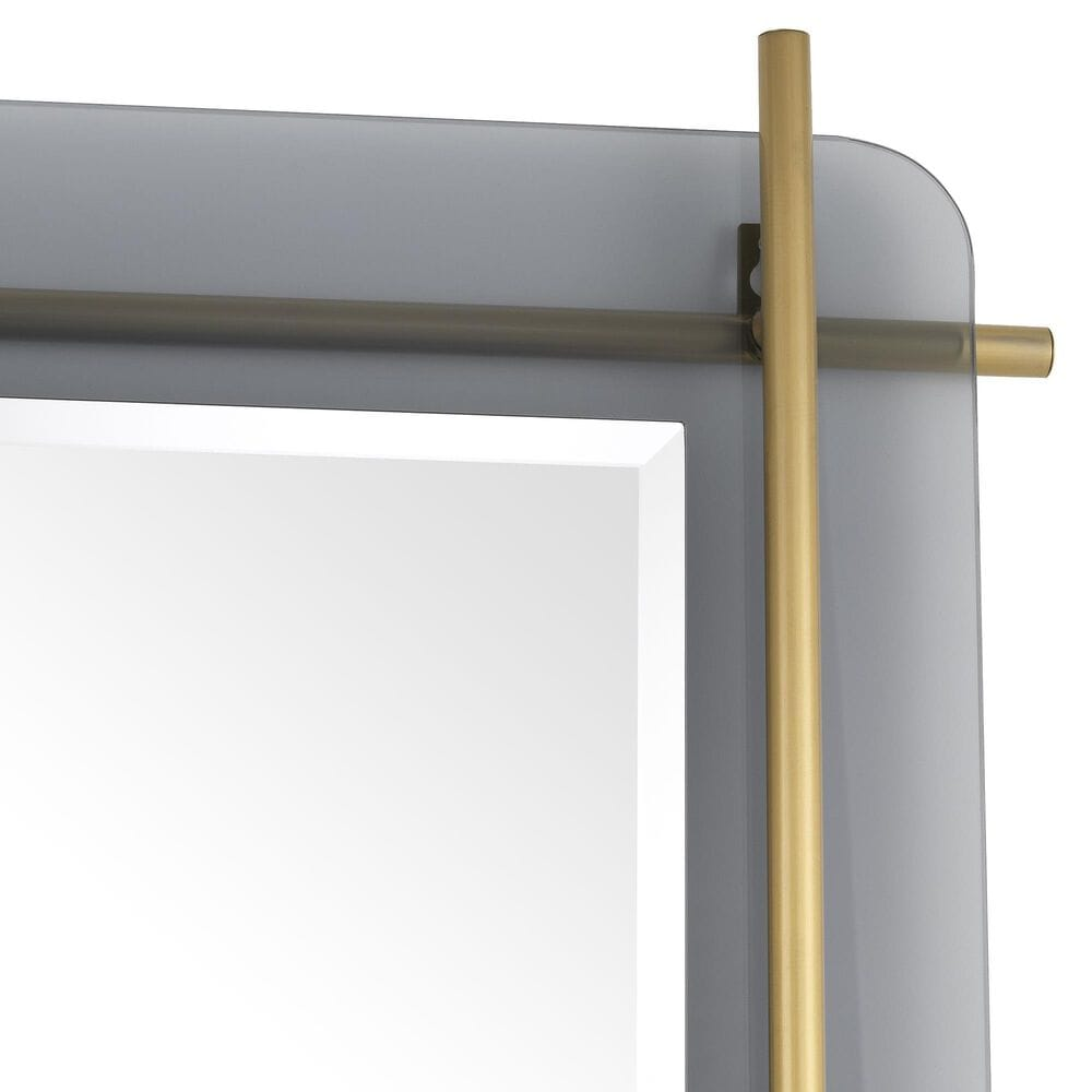 Blue Sun Designs Quinn Mirror in Smoked and Brushed Brass, , large