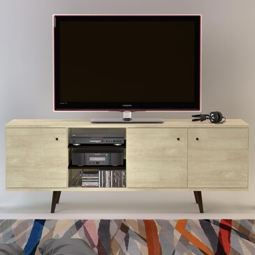 """International Home Miami Midtown Concept 71"""" TV Stand in Distressed Tan, , large"""