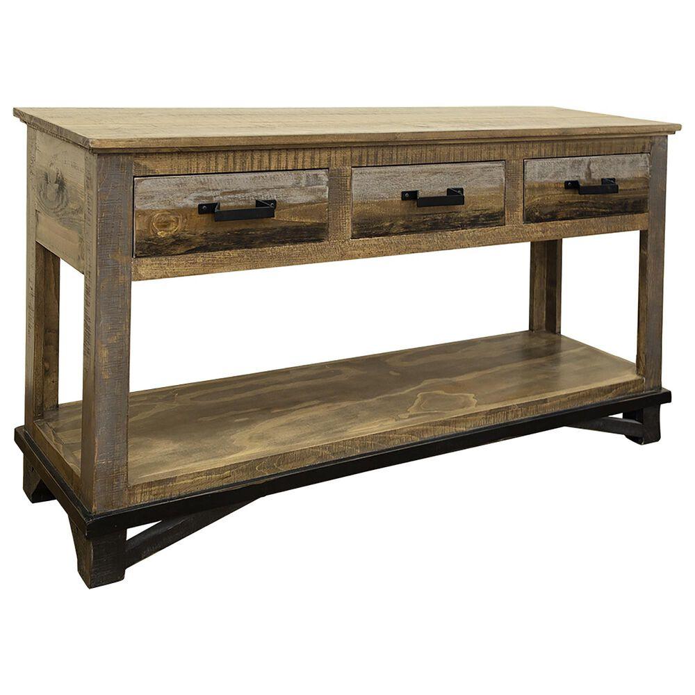 Fallridge Loft 2-Drawer Sofa Table in Gray and Brown, , large