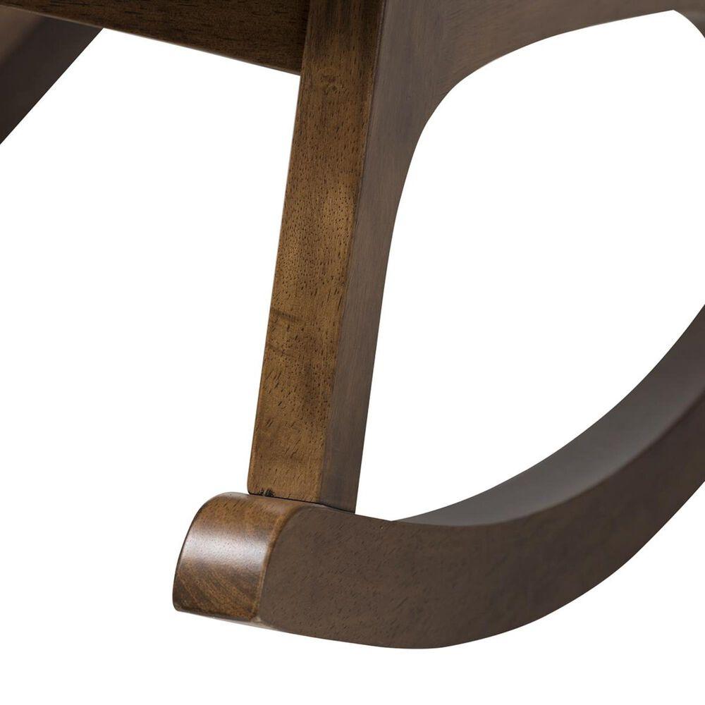 Baxton Studio Waldmann Rocking Chair in Grey, , large