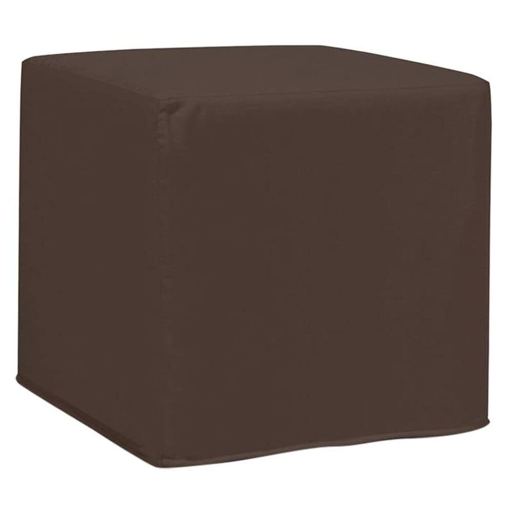 Howard Elliott No Tip Block Ottoman in Seascape Chocolate, , large
