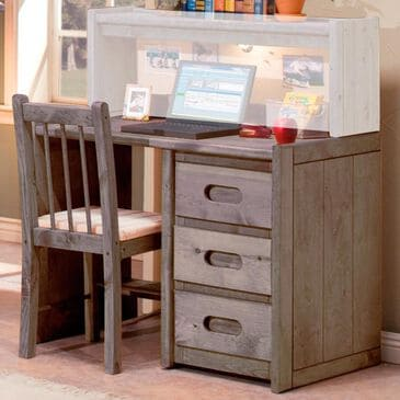 Timber Point Bunkhouse Student Desk in Driftwood - Desk Only, , large