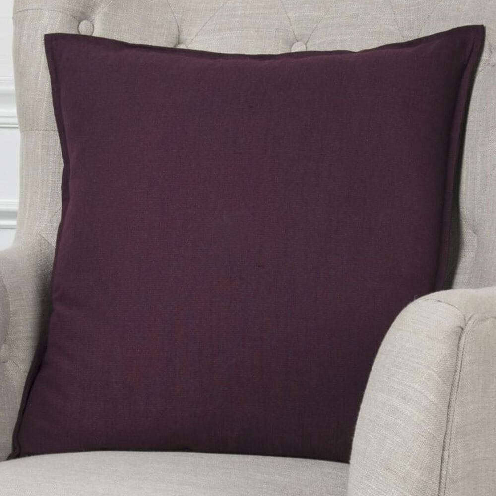 """Rizzy Home 20"""" x 20"""" Pillow Cover in Solid Purple, , large"""