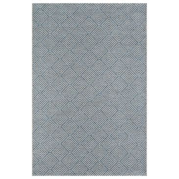 "Momeni Como 6'7"" x 9'6"" Blue Indoor/Outdoor Area Rug, , large"
