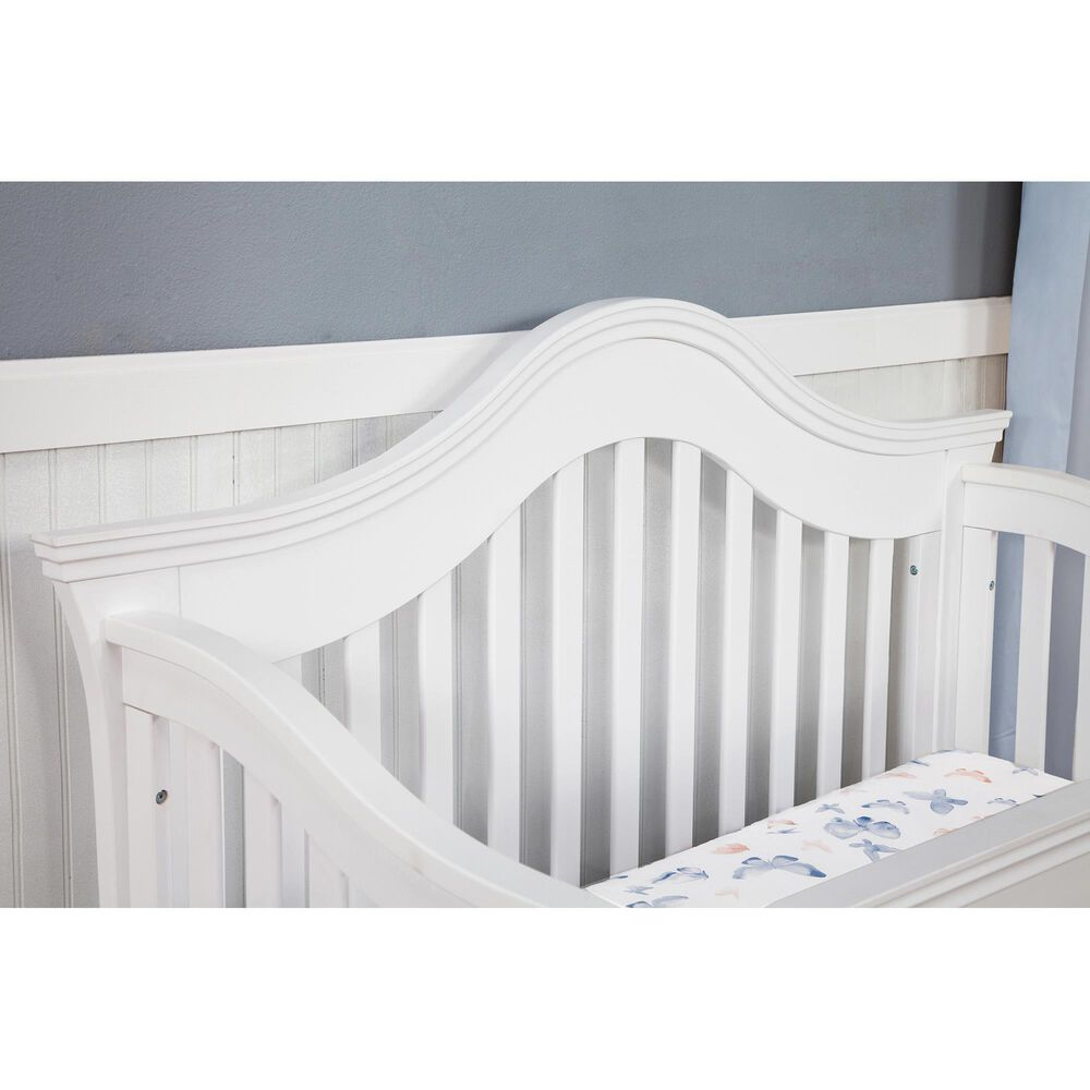 Million Dollar Baby Classic Ashbury 4-In-1 Convertible Crib in White, , large