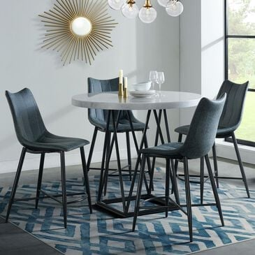 Mayberry Hill Riko 5-Piece Dining Set in Carrera and Pewter, , large