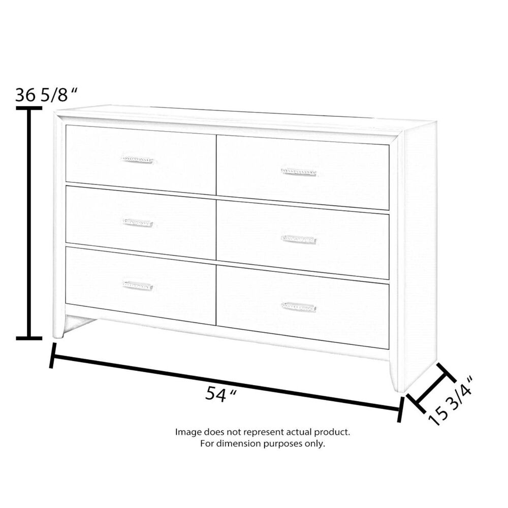 Signature Design by Ashley Willowton Youth 6 Drawer Dresser in Whitewash, , large