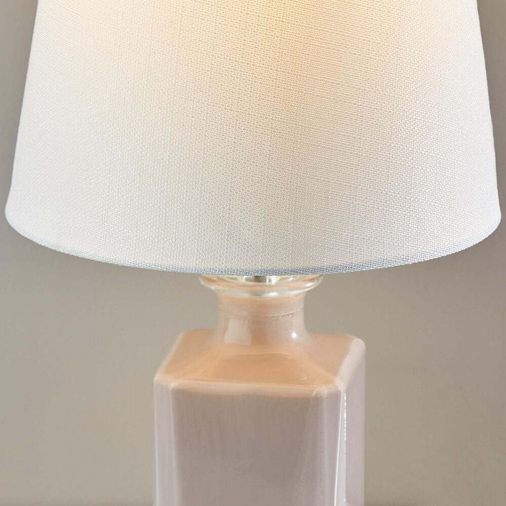 Adesso Table Lamp in Light Purple Glass, , large