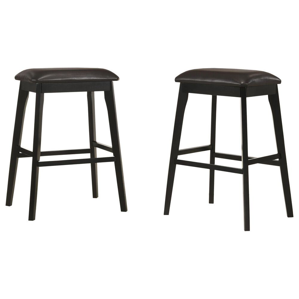 """Carolina Chair and Table Mirabelle 30"""" Barstool in Brown/Espresso (Set of 2), , large"""