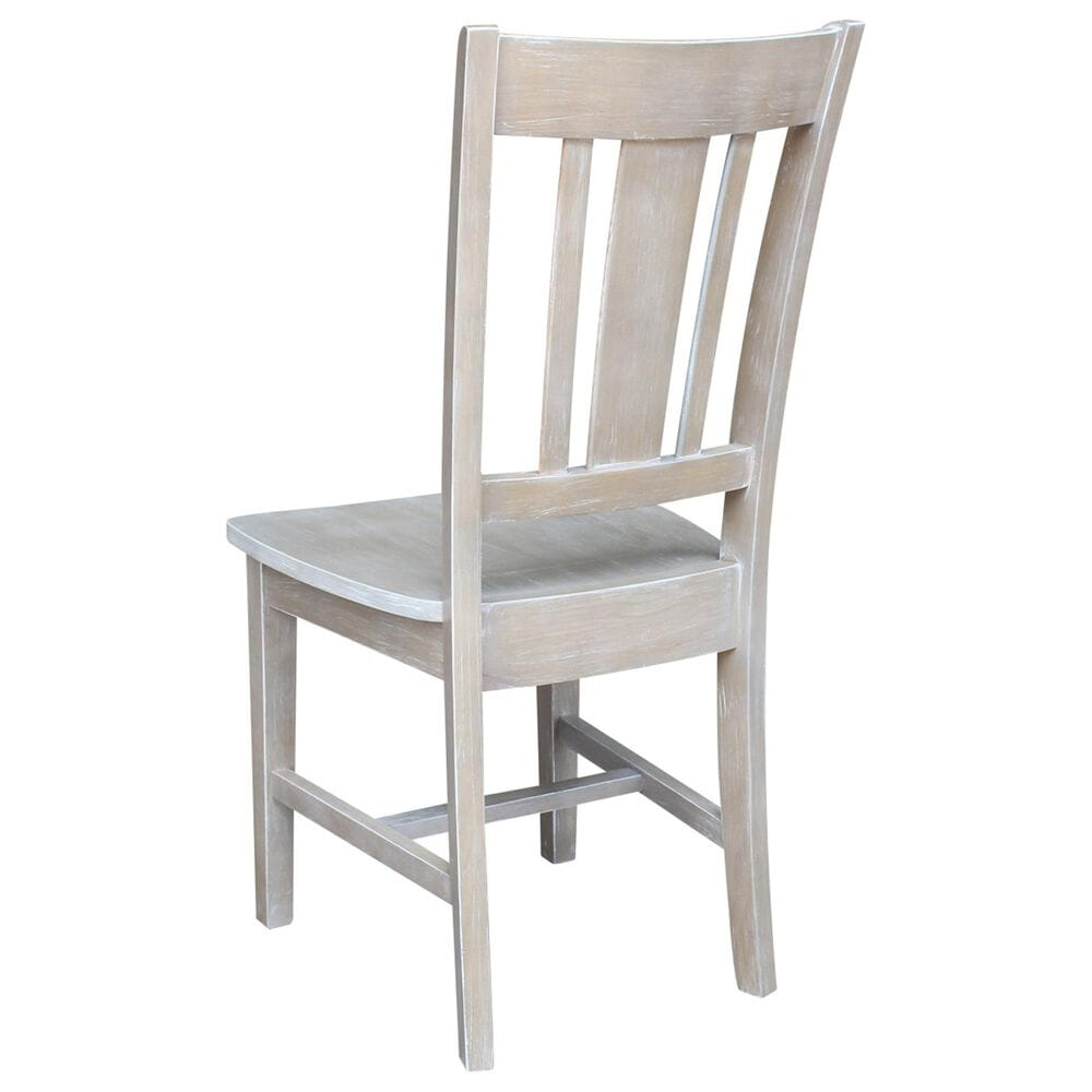 International Concepts Desk with Chair in Washed Gray Taupe, , large