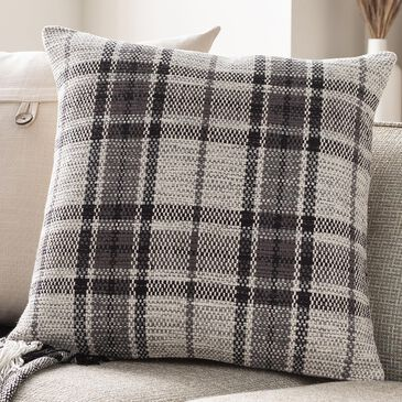"Surya Inc Jacobean 20"" Toss Pillow in Gray/Black/Ivory, , large"