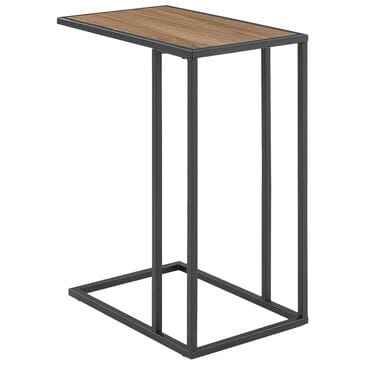 Walker Edison C Table in Mocha and Black, , large