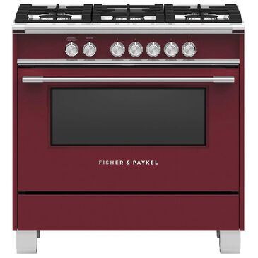 """Fisher and Paykel 36"""" Freestanding Classic Gas Ranges in Red, , large"""