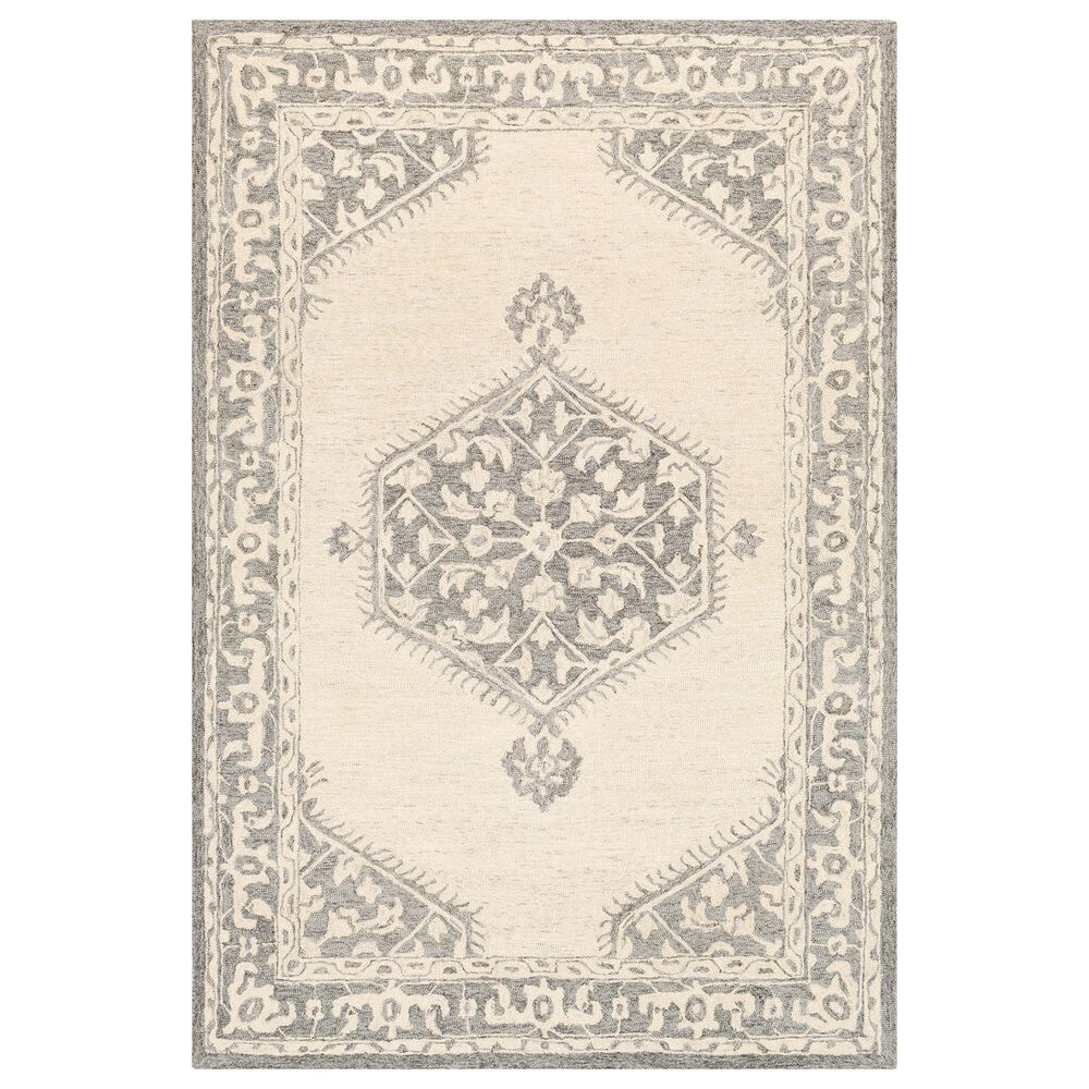 Surya Granada GND-2307 2' x 3' Medium Gray, Beige and Charcoal Scatter Rug, , large