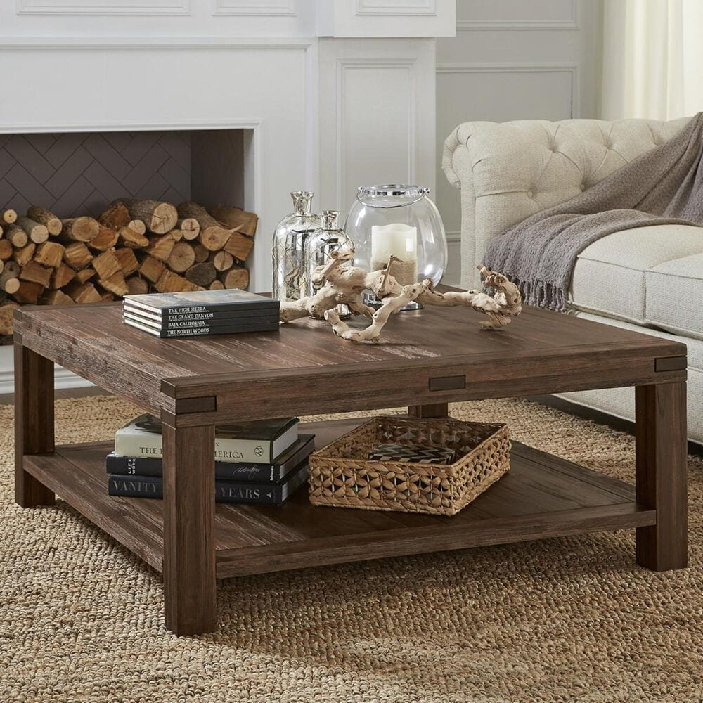 Urban Home Meadow Coffee Table in Brick Brown, , large