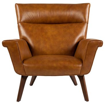 Huntington House Accent Chair in Leather Cognac, , large