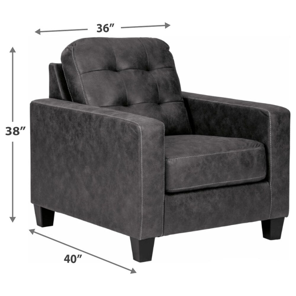 Signature Design by Ashley Venaldi Chair in Gunmetal, , large