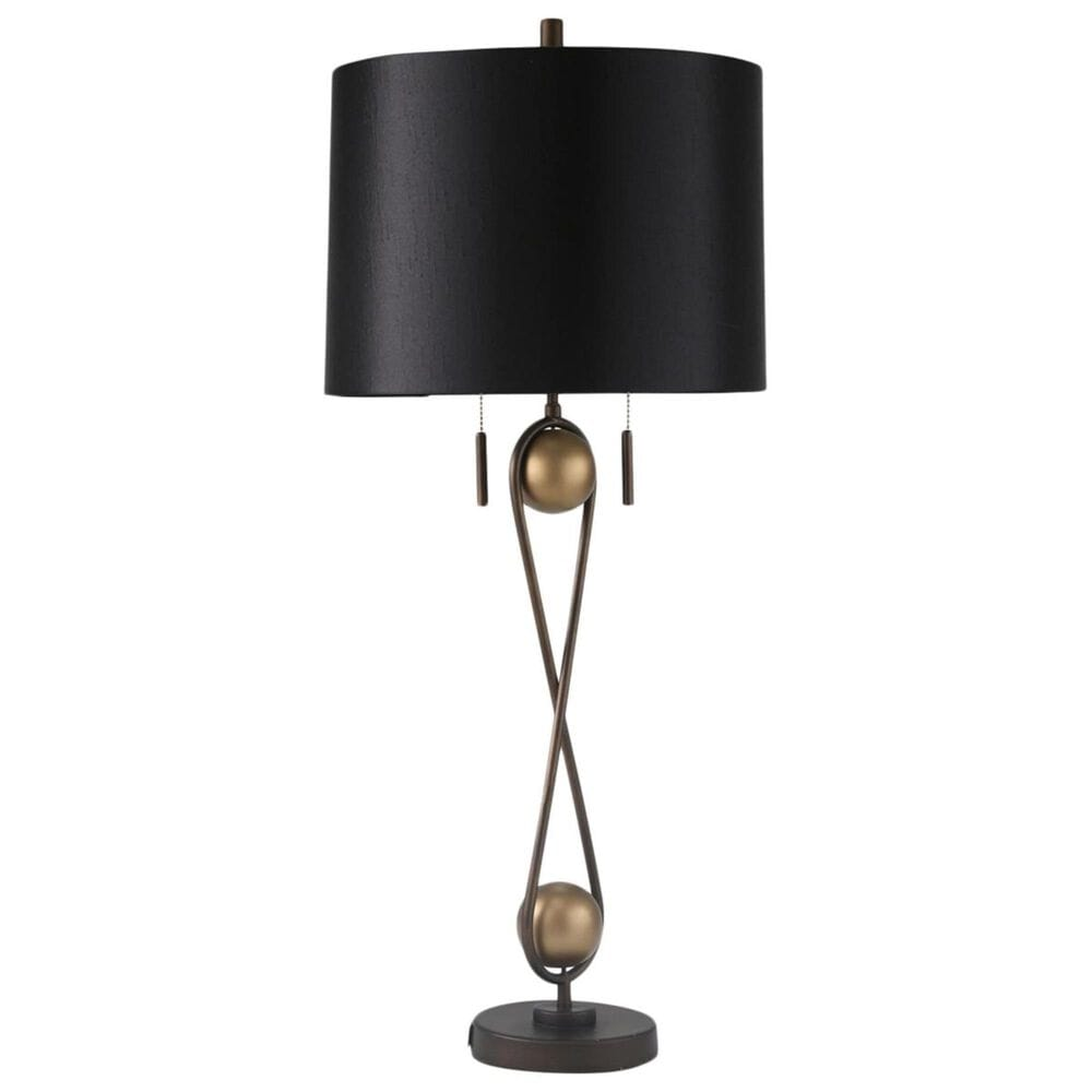 """Sagebrook Home 33"""" Table Lamp in Black and Copper, , large"""