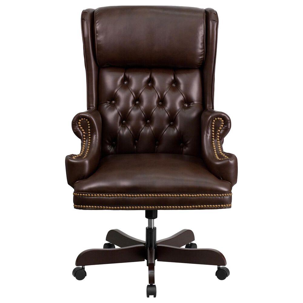 Flash Furniture Executive Swivel Chair in Brown, , large