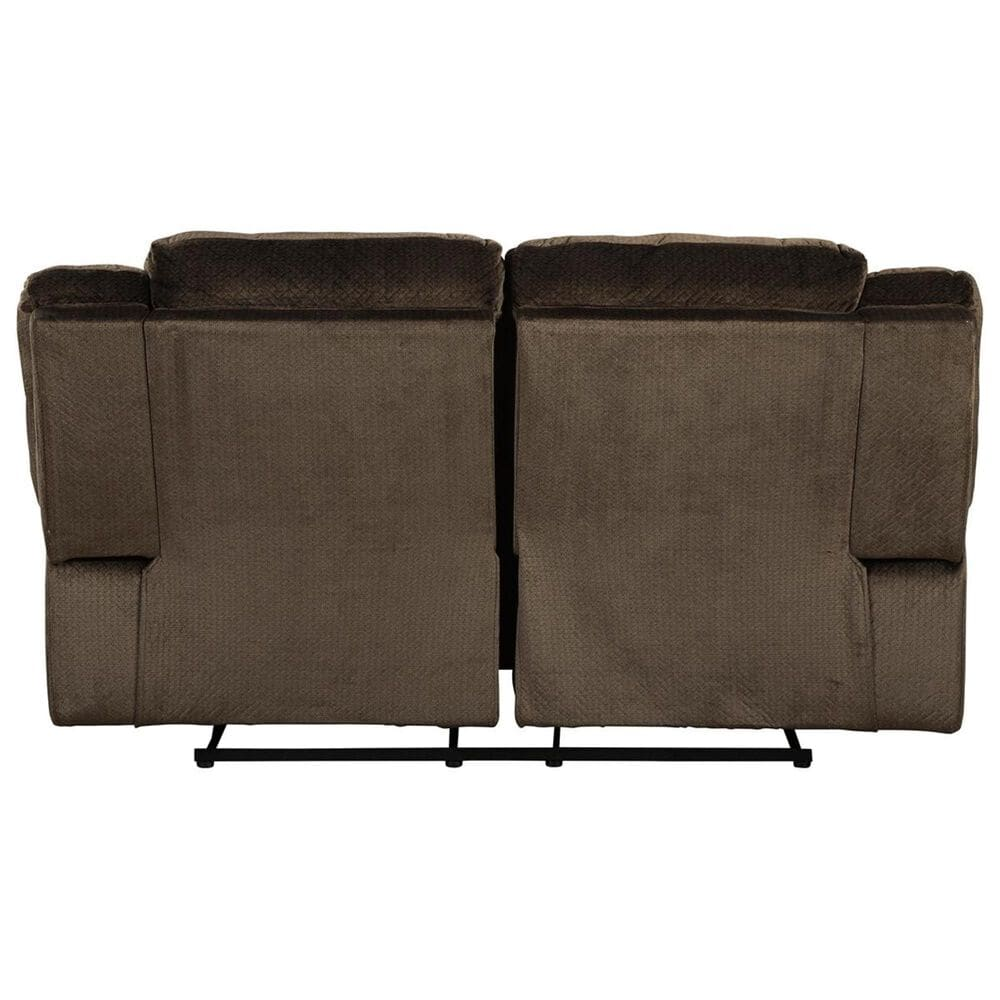 Signature Design by Ashley Clonmel Manual Reclining Loveseat in Chocolate, , large