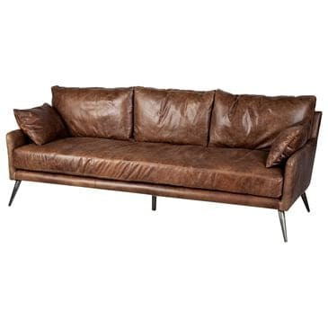 Mercana Cochrane II Sofa in Dark Brown Leather, , large